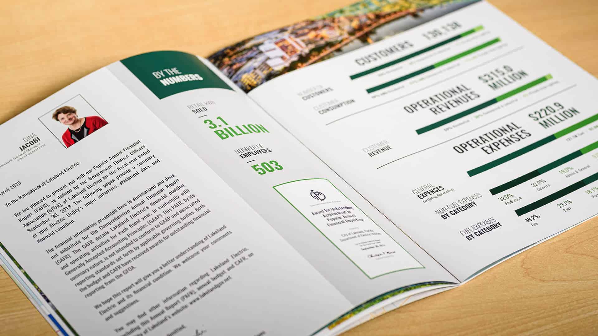 Lakeland Electric Annual Report Interior